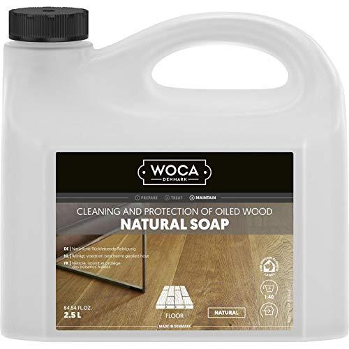 WOCA 511025A Sapone naturale per la pulizia del legno oliato, Naturale, 2.5 litri