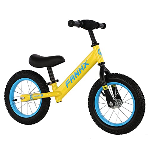 Bici De Balance De 12 Pulgadas Para Niños Pequeños Y Niños De 2 A 6 Años De Edad Bicicletas De Entrenamiento Sin Pedales Bicicleta De Equilibrio Con Asiento Y Manillar Ajustables(Color:Amarillo)