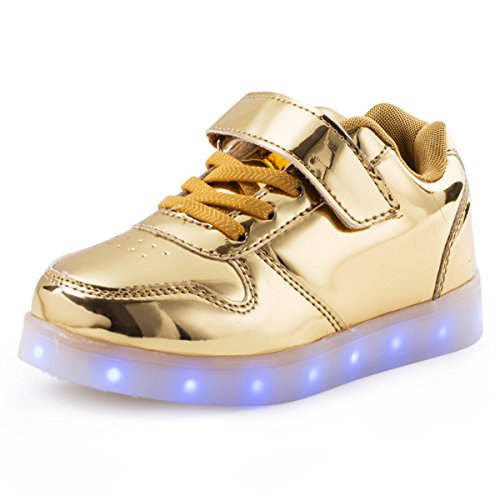 AFFINEST Boy Girls Light Up Shoes Led Flashing Fashion Sneaker for Kids Toldder