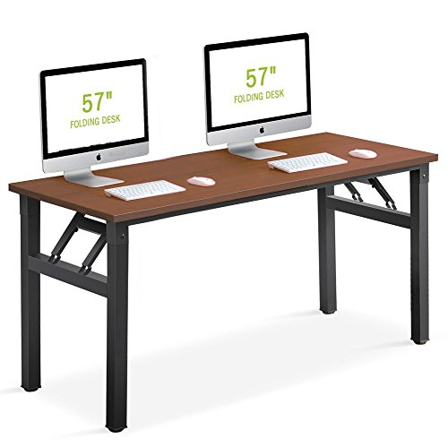 Folding Desk, Tribesigns 57 inch Computer...