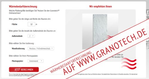 Granotech® Marmor-Infrarotheizung / 400 Watt Carrara - 5