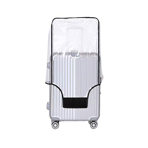 Yotako Clear PVC Suitcase Cover Protectors 20 24 28 30 Inch Luggage Cover for Wheeled Suitcase (20''(13.8''L x 9.5''W x 20''H))