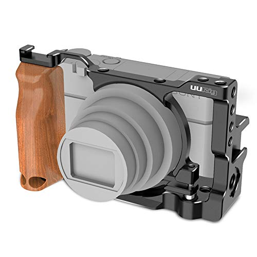 Linghuang - Carcasa de Metal para Sony RX100 Vi VII, Carcasa rígida para cámara de vídeo con Placa de liberación rápida con Orificios de 1/4'