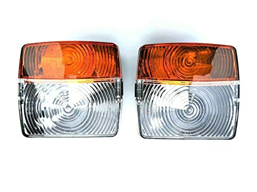 2 luces intermitentes de posición para tractor, set universal