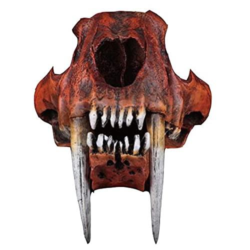 YAOHEHUA Esculturas Resina Modelo De Cráneo De Tigre Diente