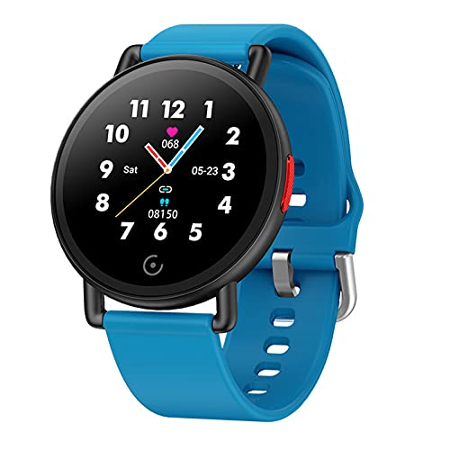 VBF Smart Watch G22 Sports Men's Mujeres IP67 Reloj Impermeable 1.3 Pulgadas Fitness Tracker Pulsera Tasa De Corazón Presión Arterial Smartwatch para Android iOS,A