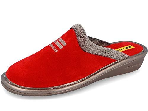 Zapatillas de casa en ante rojo (39)