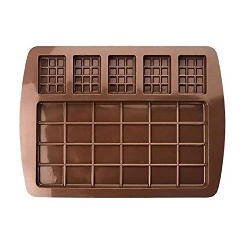roosteruk Stampo in Silicone per Cioccolato, stampi per Cioccolata Calda, stampini in Silicone da Forno a Forma Rettangolare per Praline, tartufi, Dolci, Caramelle, cioccolatini