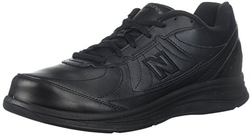New Balance Men's 577 V1 Lace-Up Walking Shoe, Black/Black, 10.5 XW US
