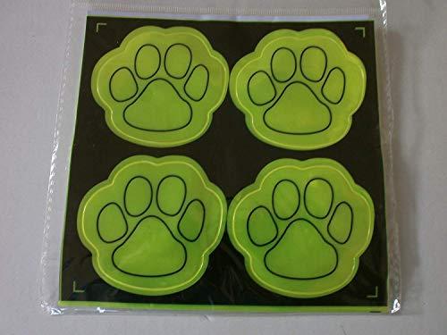 Schnooridoo 12 Sticker reflektierend, Tatzendesign, 6,5 x 6 cm Mitgebsel Kindergeburtstag