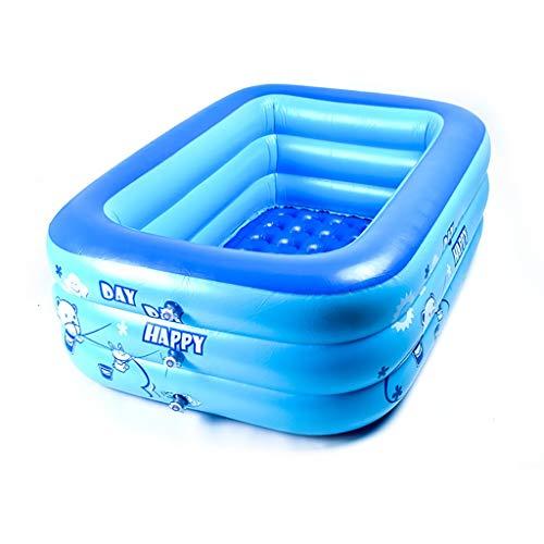 CQyg CQ Aufblasbares Schwimmbecken Aus PVC, Rechteckiges Planschbecken, Für Kinder | Baby | Erwachsener | 3 Größen Planschbecken (größe : 120×70×35cm)