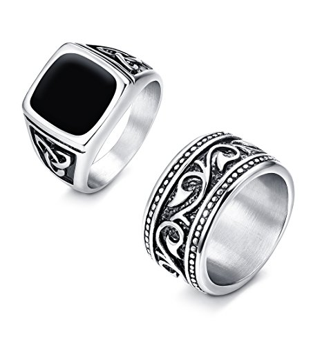 Our #2 Pick is the Finrezio 2Pcs Stainless Steel Rings for Men
