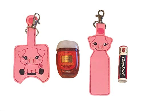 Pig Hand Sanitizer Holder And/Or Lip Balm Holder