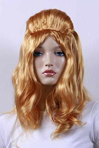 Qubeat Perruque Femmes Arrivant aux épaules Brun/Blond Carnaval Carnaval