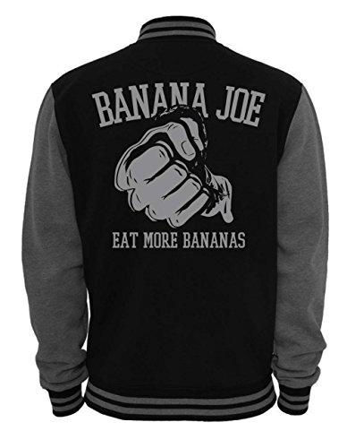 Banana Joe Original 2-Tone Collegejacke #3 - Schwarz-Grau 4XL