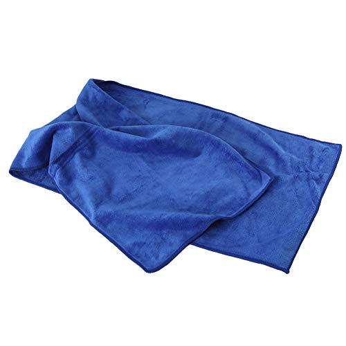 Cnwang Mikrofasertuch in 3 Farben + Tasche - Klein, Leicht Und Extrem Saugfähig - Reisetuch Aus Mikrofaser, Strandtuch, Mikrotuch, Sporttuch, 100x30cm,Blau