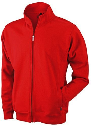 Herren Sweatjacke aus formbeständiger Sweat-Qualität XL,Rot