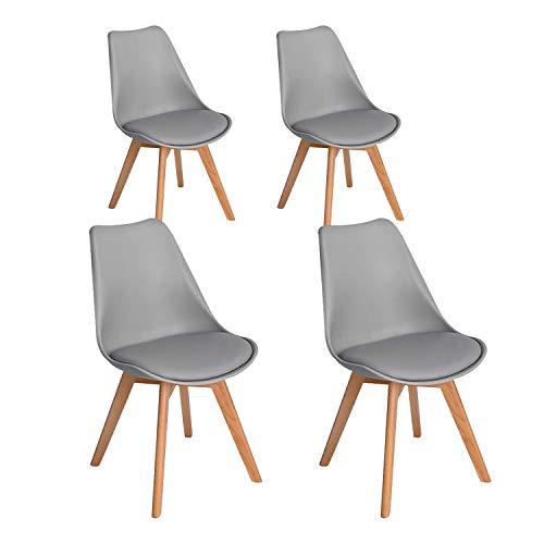 Silla de comedor de estilo simple cómoda silla de recepción silla de maquillaje de moda adecuada para dormitorio sala de estar comedor estudio oficina área de recepción cafetería sillón (Gris)