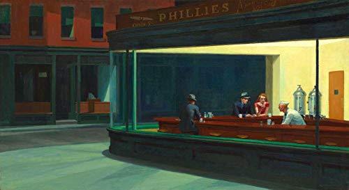 Nighthawks de Edward Hopper - 75x137 - Tela Canvas Para Quadro