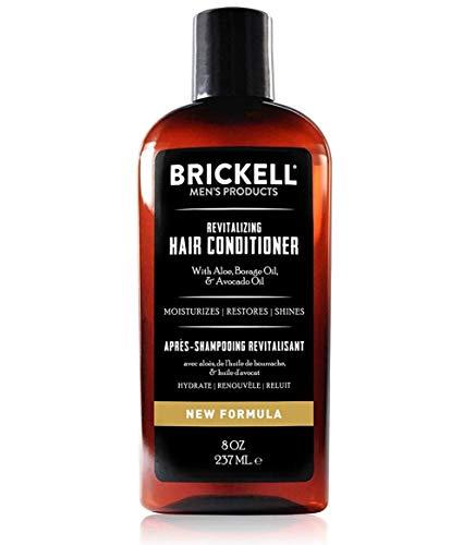 Brickell Men's Revitalizing Hair Conditioner - Natürliche & organische Männer Haarspülung für die ultimative Haarpflege - Perfekt gegen brüchige & trockene Haare - 237 ml - Parfümiert - Neue Formel