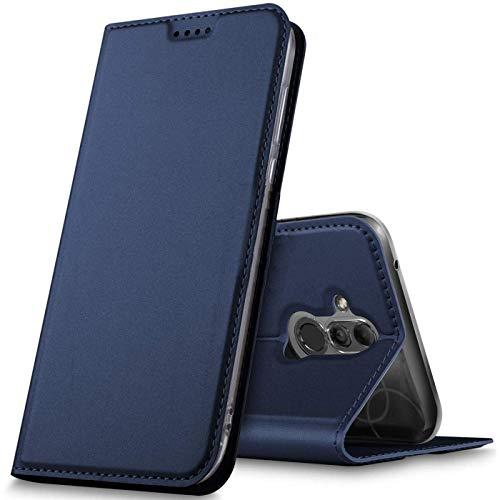Verco Handyhülle für Mate 20 Lite, Premium Handy Flip Cover für Huawei Mate 20 Lite Hülle [integr. Magnet] Book Hülle PU Leder Tasche, Blau