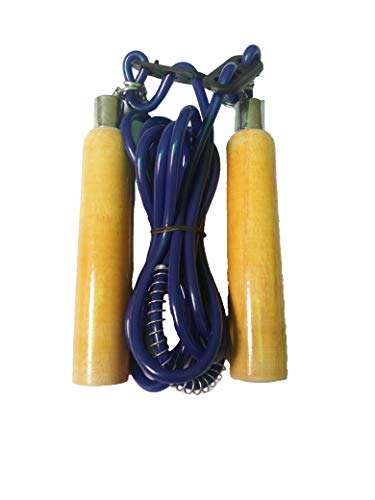 SHIV SHAKTI Sportland Fitness, Gym Skipping Rope with Comfortable Grip for Men, Women, Girl and Boy (Blue)