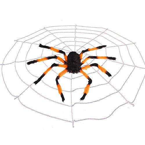 Outdoor Halloween Dekorationen Scary Spider mit Web Am besten für Party Favors Dekorationen Web Triangular Mega Graveyard Stretch Cobweb