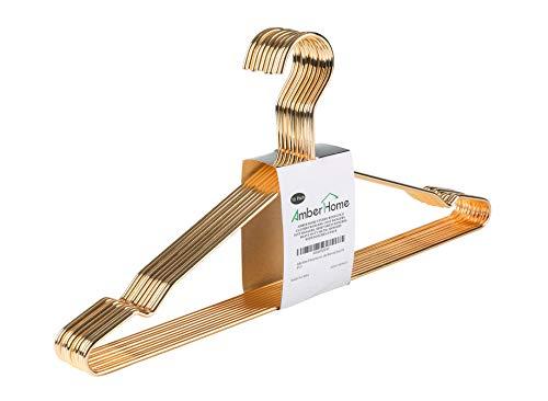 Beautiful Gold Aluminum Metal Suit Hangers Heavy Duty Coat Hangers 10 Pack Gold