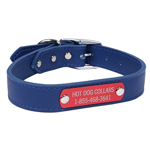 Hot Dog Collars Personalized Leather Dog Collar