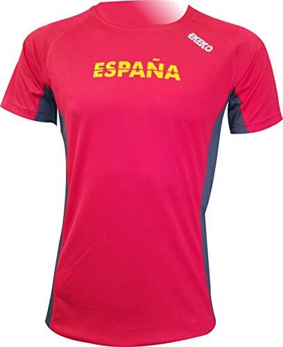 Camiseta Deportiva Manga Corta EKEKO Marathon, Camiseta Hombre Fabricada en Poliester microperforado, Running, Fitness y Deportes en General.