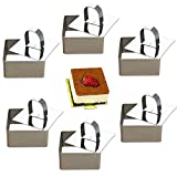Da.Wa 4 moldes de acero inoxidable para tartas de queso Lamy (redondos, cuadrados, corazones, flores) (#3)