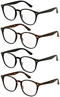 Reading Glasses 4 Pairs Comfort Fashion Matte Readers for Men and Women
