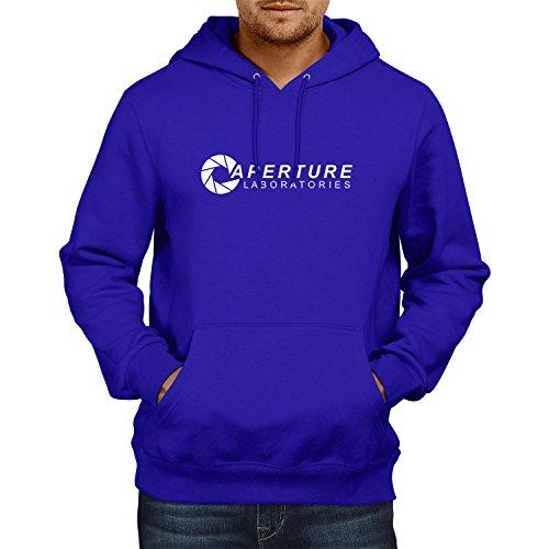 NEXXUS Aperture Laboratories - Herren Kapuzenpullover, Größe L, Marine