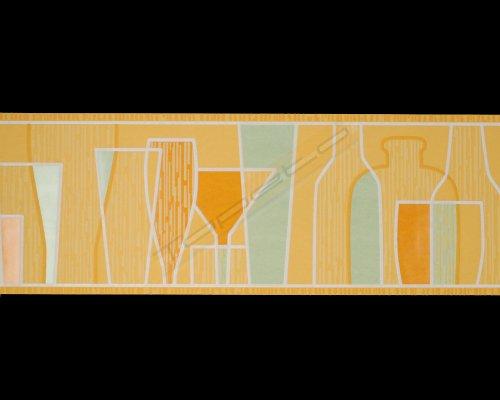 A.S. Création Bordüre Kitchen Dreams, gelb, orange, weiß, 211811
