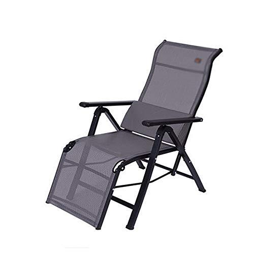 YYHSND Sillón reclinable Plegable Simple Moderno en casa Silla multifunción Silla de Siesta Silla de Playa Tumbona de Sol Silla Plegable