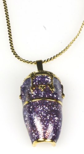 Harmony Jewelry Conga Drum Necklace - Gold and Purple
