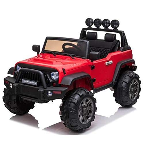 Check Out This ZKKWLL 2 (Two) Seater 12V Power Children Ride-On Car Truck with Remote + Wheels + Sea...