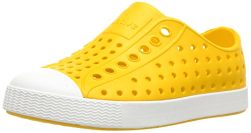 Native Shoes Unisex-Kinder Jefferson Child Wasserschuh, Buntstifte Gelb/Muschelweiß, 28 EU