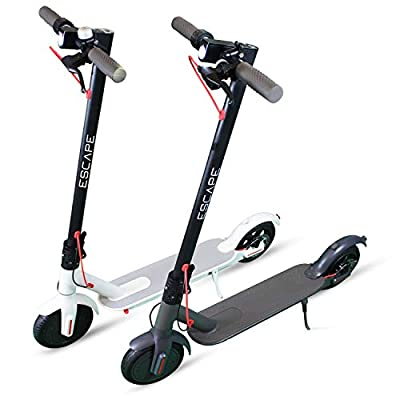 """ESCAPE 350W Electric Scooter 8.5"""" Pro Display 25km/h Foldable Eco Friendly Rechargeable With APP Included Out Door Commuter (White)"""