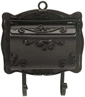 Melody Jane Dollhouse Black Victorian Mail Letter Box Wall Mounted Miniature 1:12 Scale