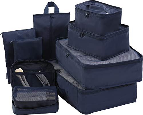 Travel Packing Cubes 8set-JJ POWER-Travel Packing Organizers with Toiletry...