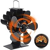 Melelly Fireplace Fan, Heat Powered Wood...