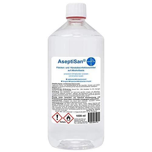AseptiSan 1000 ml I Händedesinfektion I Pharmazentral-Nr-16613733 I Nachfüllflasche I HERRLAN Qualität I Made in Germany I HERRLAN ANTWORTET AUF AUSNUTZUNG DER SITUATION