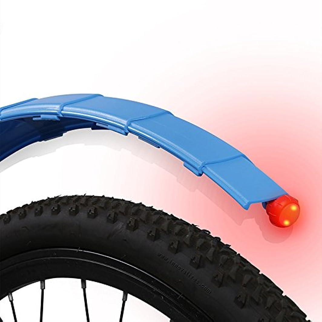 バイオレットプレビスサイト塊Cozyswan 自転車フェンダー マッドガード 泥よけ テールライト付き LEDライト フロントとリア 前後セット 伸縮式 角度調整 簡単取り付け ロードバイク クロスバイク