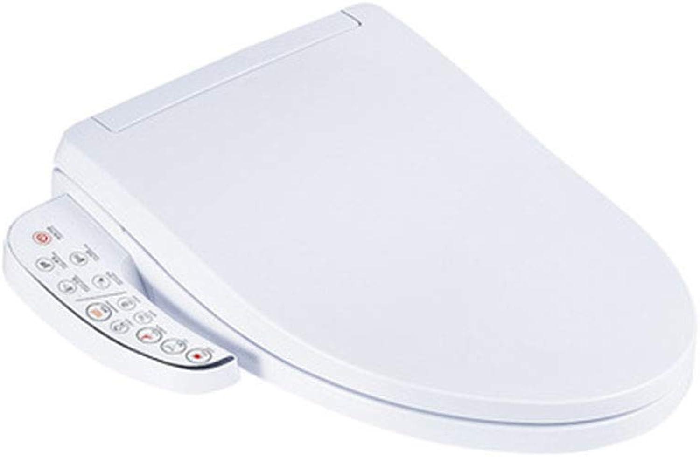 HSJDP Toilettenabdeckung aus Keramik Reinigung Trocknen absteigend waschen Toilettensitz Intelligente, verdickte Toilettenabdeckung