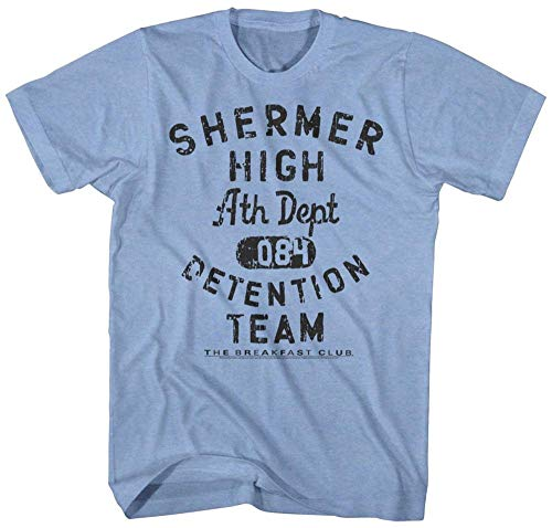 T-shirt The Breakfast Club- Shermer High Detention Team M - Bleu