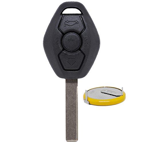 Auto Llave Mando a distancia 1x Carcasa 3botones + 1x fijo eingegossener en blanco HU92+ 1x lir2025batería para BMW