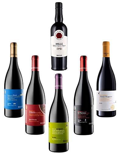 Sicilia Bedda - I VINI BIOLOGICI SICILIANI DOC - Cofanetto 5 Bottiglie di Vino Biologico Azienda Agricola Rallo con Marsala Superiore Semisecco'MILLE' - IDEA REGALO