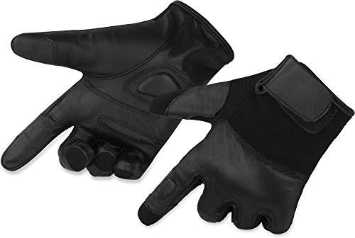 normani Polizei Security Handschuhe mit Quarzsandfüllung und elastischen Einlagen [XS-5XL] Größe XL