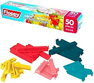 Ikea Bevara Sealing Clips Assorted Color 30 Pack With Floppy Poly Bag Disposable Storage Freezer Bag 50 pcs